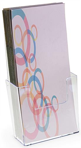 Plastic Brochure Holder with Low Front Pocket