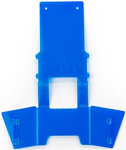 Easy-to-Assemble Blue Plastic Brochure Holder