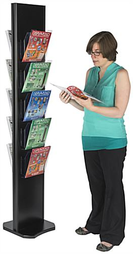 Monolith Totem Double-Sided 10-Pocket Magazine Display