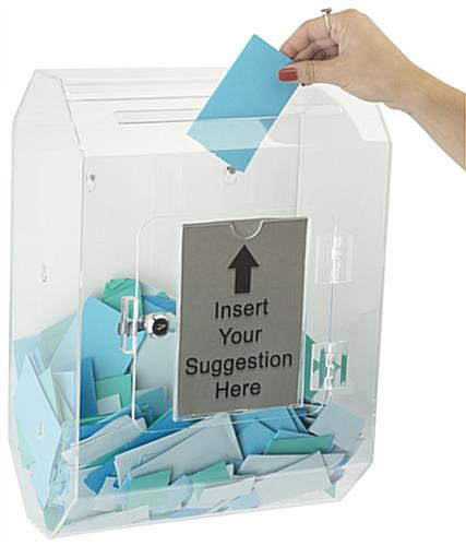 Double Sided Wall Mounted Suggestion Box