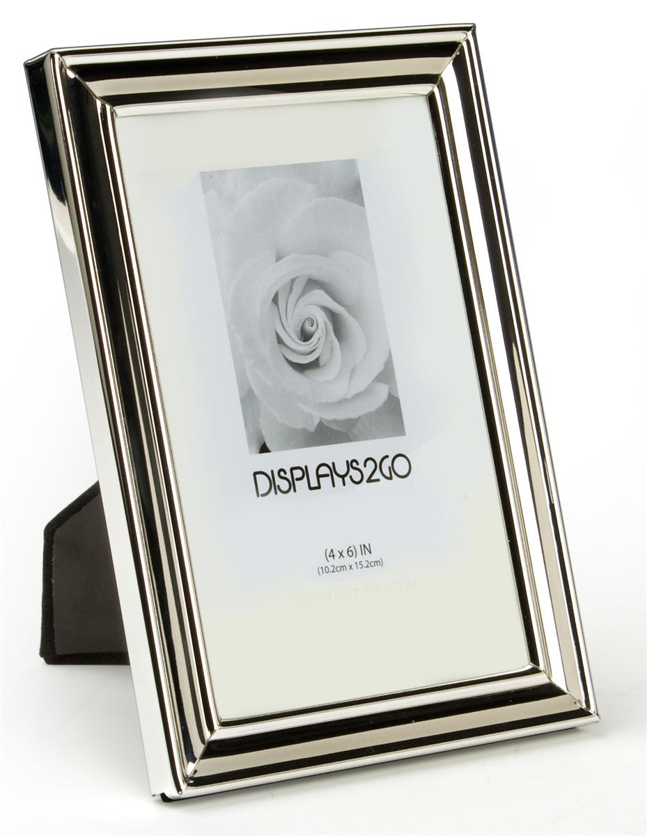 small silver picture frame plated photo holder. Black Bedroom Furniture Sets. Home Design Ideas