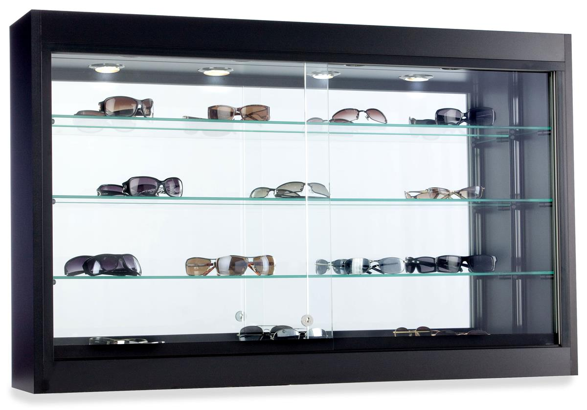 this black laminate trophy case for sale will ship out quickly these showcases are quick ship. Black Bedroom Furniture Sets. Home Design Ideas