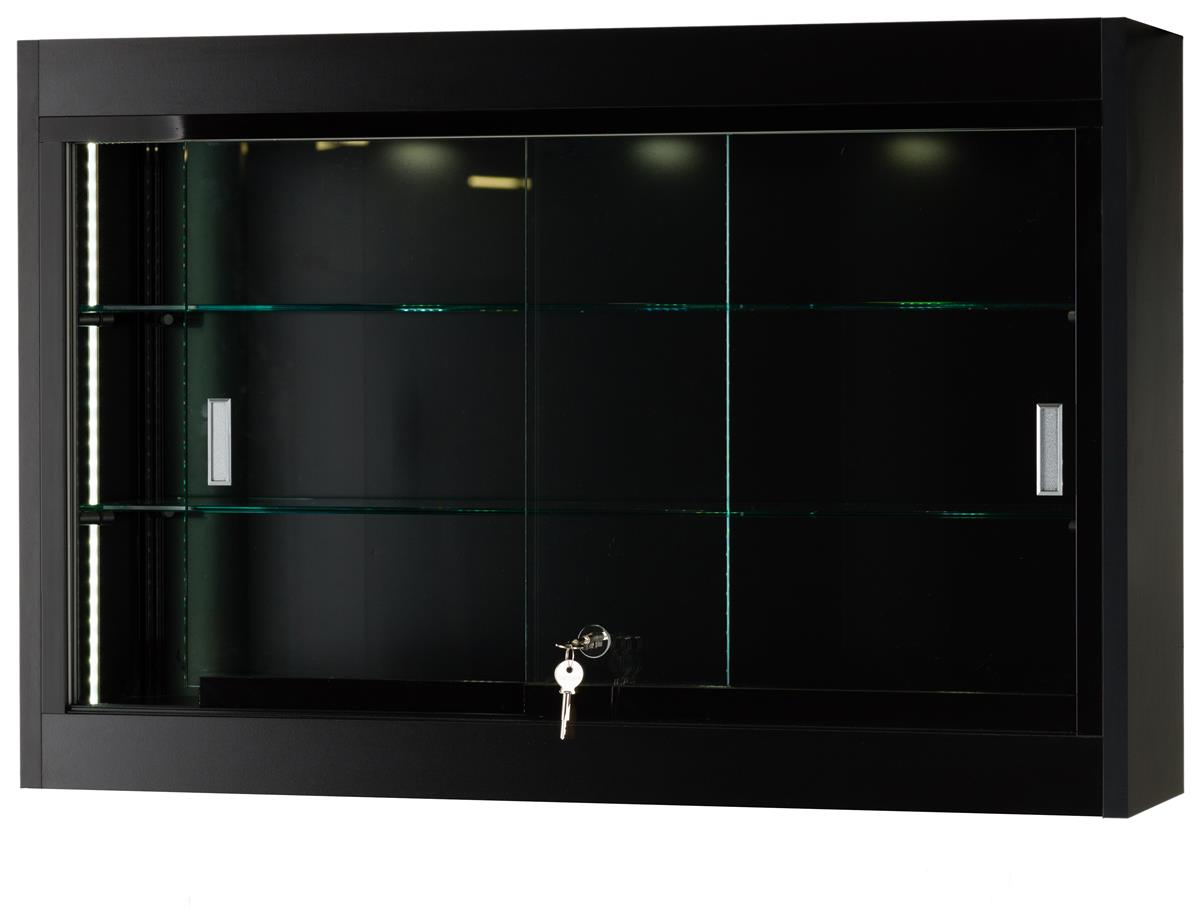 glass shelves and locking door buy this display cabinet online today