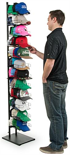 Baseball Hat Rack Displays 12 Pocket Black Wire Cap Holders