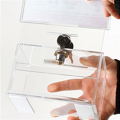 "Locking Suggestion Box w/ Lock And 6"" x 4"" Header"