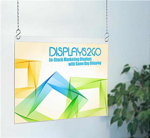 Acrylic Poster Hangers for Window Displays