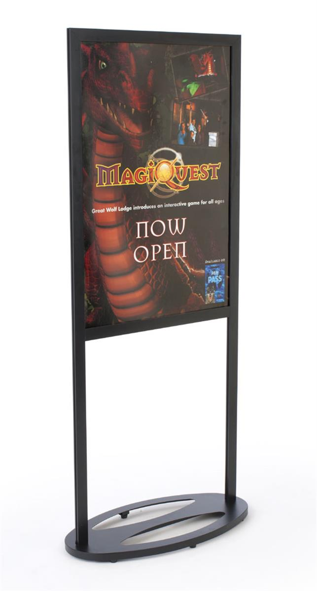 """Metal Poster Stand   24"""" x 26"""" Floor Display for Marketing"""