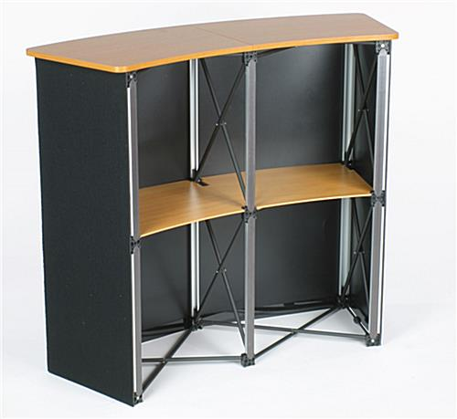 Portable Exhibition Table : Portable exhibition table hook and loop receptive fabric