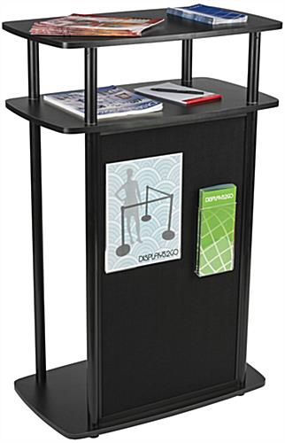 "Exhibit Counter With Hook and Loop Panel, 26.125"" x 40.75"""