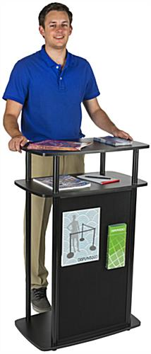Exhibit Counter With Hook and Loop Front for Conferences