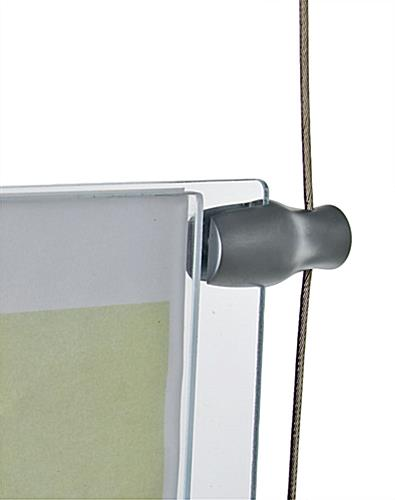 Cable Clamp For Hanging Acrylic Panels
