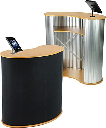 Pop Up Counter with Black iPad Holder