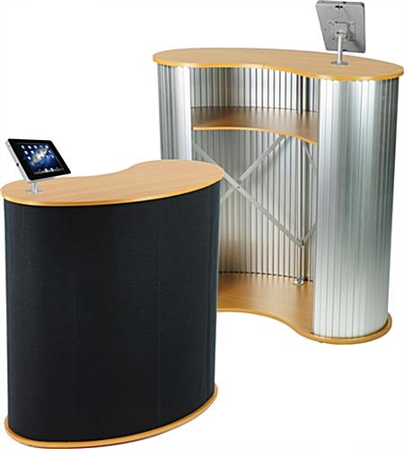 Pop Up Counter with iPad Holder in Silver