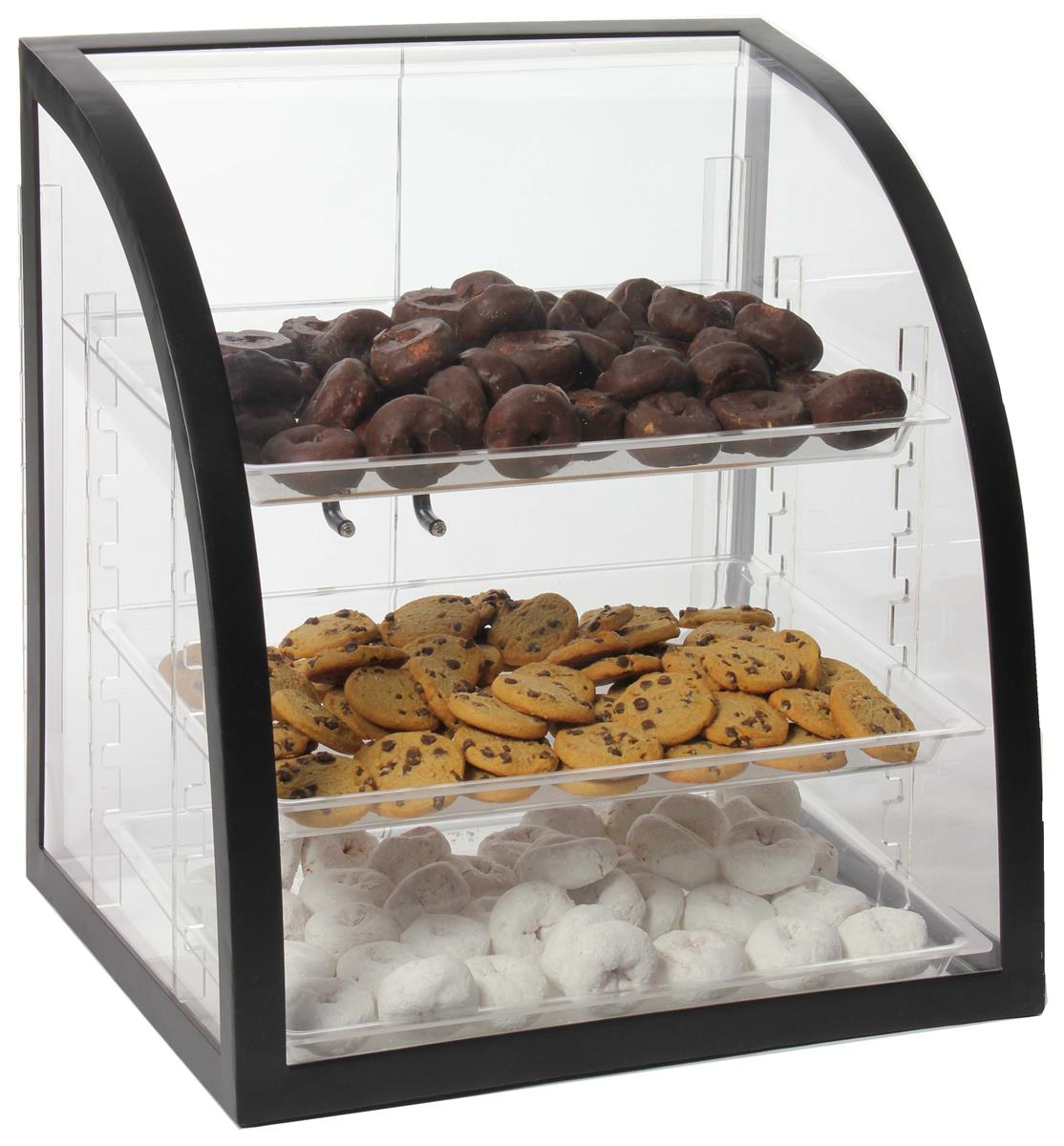 These Acrylic Bakery Displays Use The Tray To Show Cake