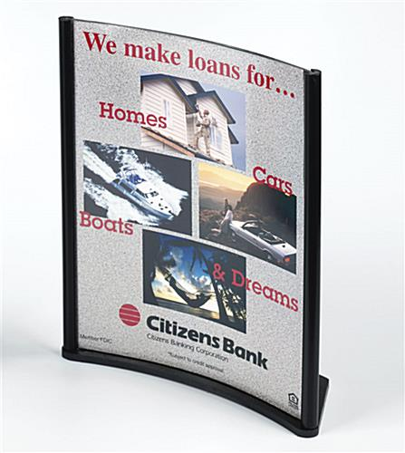 "Sign Frame Holds 8-1/2"" x 11"" Graphics"
