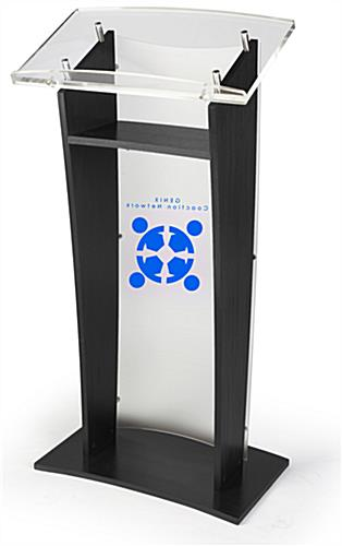 Frosted Acrylic Panel Custom Front Speaking Stand