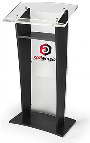 2-Color Custom Printed Front Speaking Stand