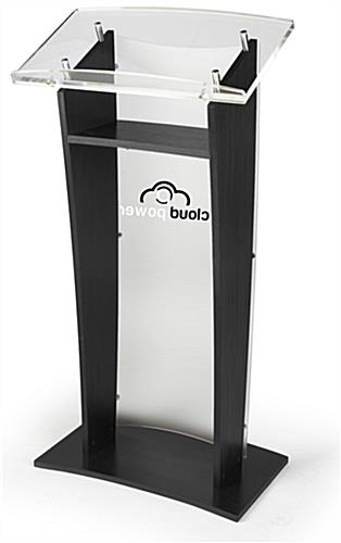 Clear Panel Printed Public Speaking Stand