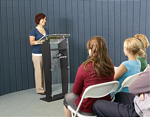 """H"" Shape Printed Public Speaking Stand"