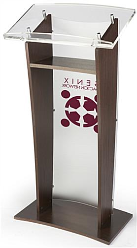 Suitable Acrylic and Wood Podium with 1-Color Logo