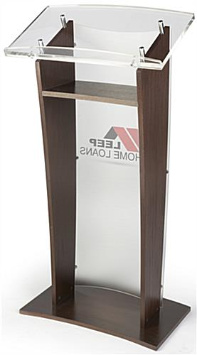 Suitable Acrylic and Wood Podium with 2-Color Logo