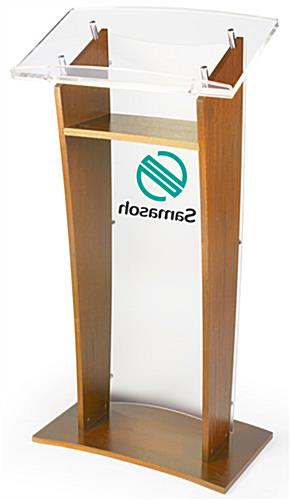 Interior Wood Shelf Customized Public Speaking Lectern