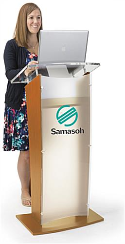 Scaled 2-Color Customized Public Speaking Lectern