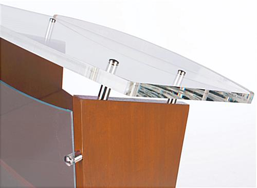Acrylic Surface Customized Public Speaking Lectern