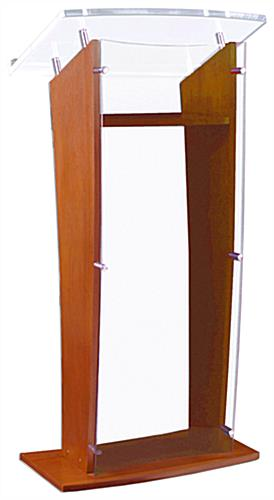 Book Stop Lip Maple Wood Public Speaking Stand