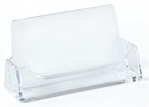 Clear business card holders 39quot wide for Clear plastic business card holder