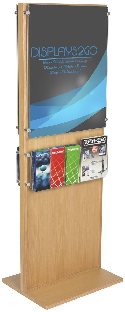 Poster Signage With Trifold Holders 10 Pocket Literature