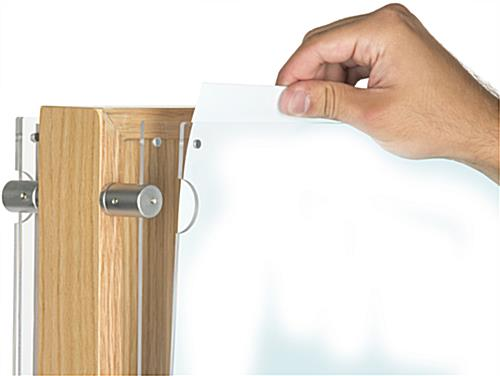 Top Loading Two-Sided Wooden Poster Display With 20 Pockets