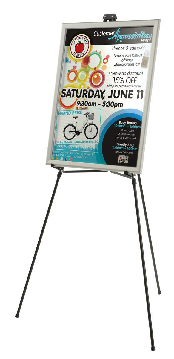 Collapsible easel lightweight portable display stand - Porta poster amazon ...