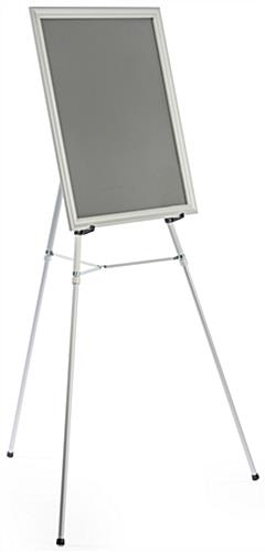 adjustable height tripod base with poster frame silver