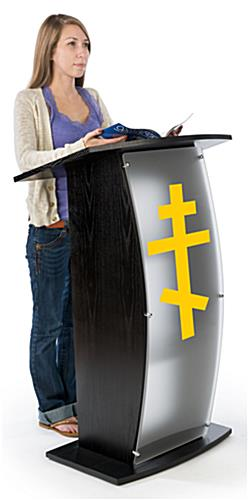 Black Pulpit with Orthodox Cross is the Perfect Stand for your Congregation