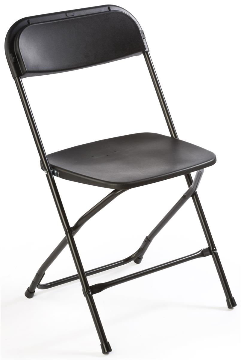 Plastic Folding Chair in Black