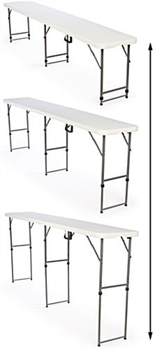 Tall Narrow Folding Table 8 5 Ft Wide Amp 17 75 Quot Deep