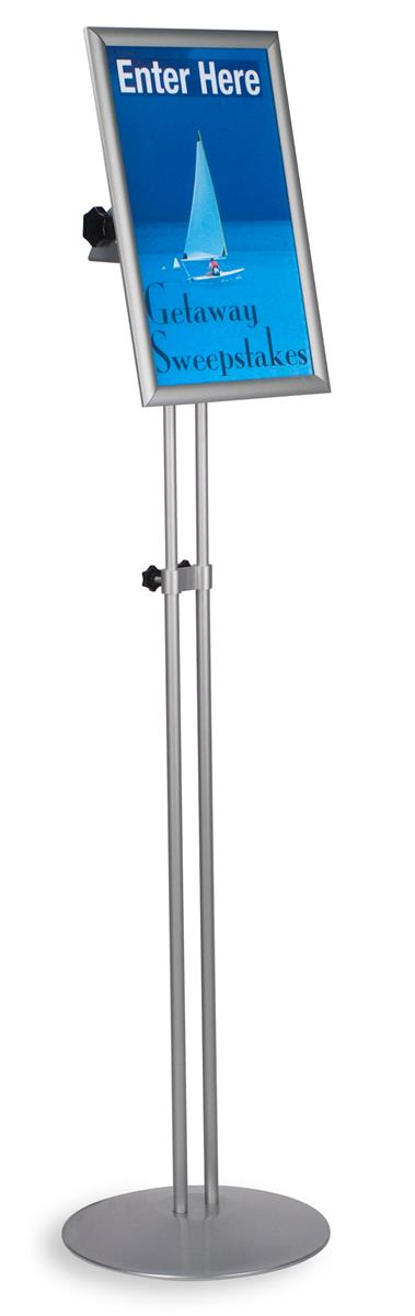 this adjustable poster frame is a freestanding display