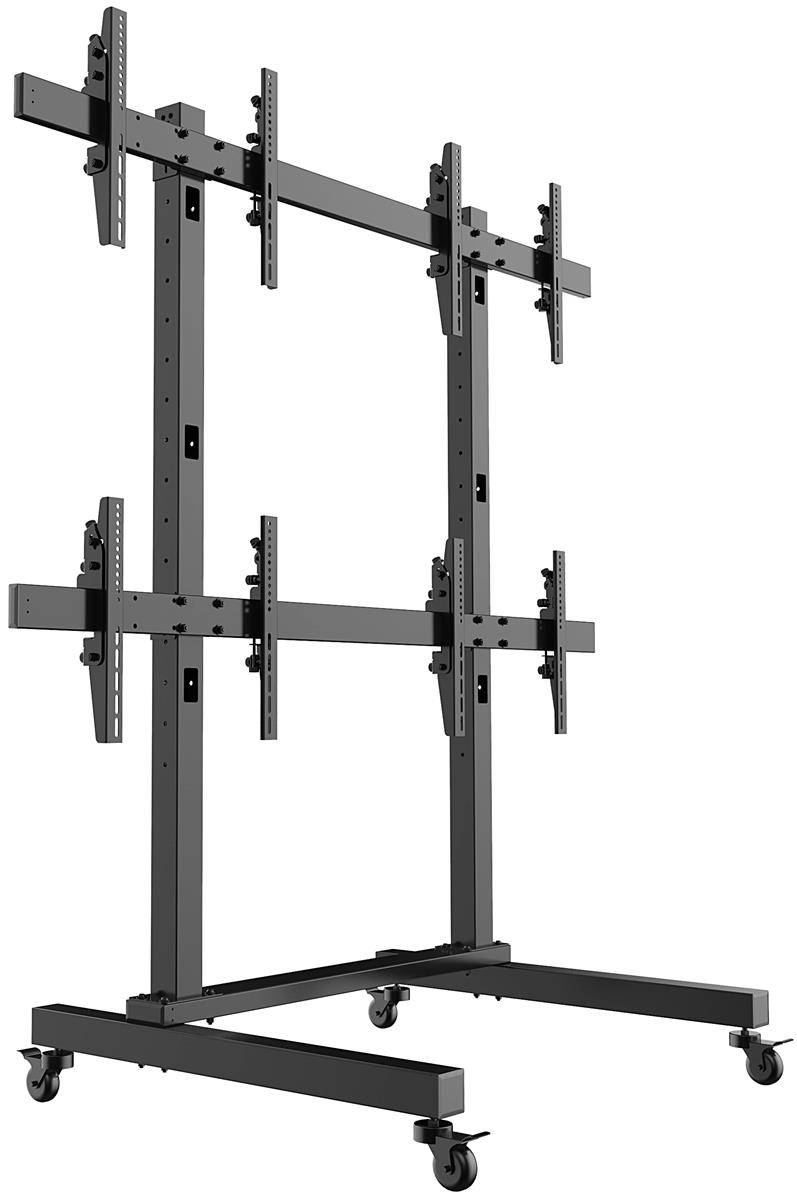 Exhibition Stand With Monitor : Quad monitor display stands locking brackets
