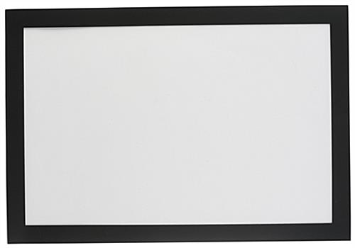 easy to hang 11 x 17 adhering sign frame