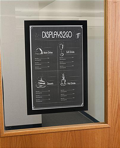 11 x 17 adhering sign frame for menus