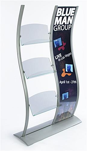"Literature Holder with 18"" x 77"" Graphic Frame"