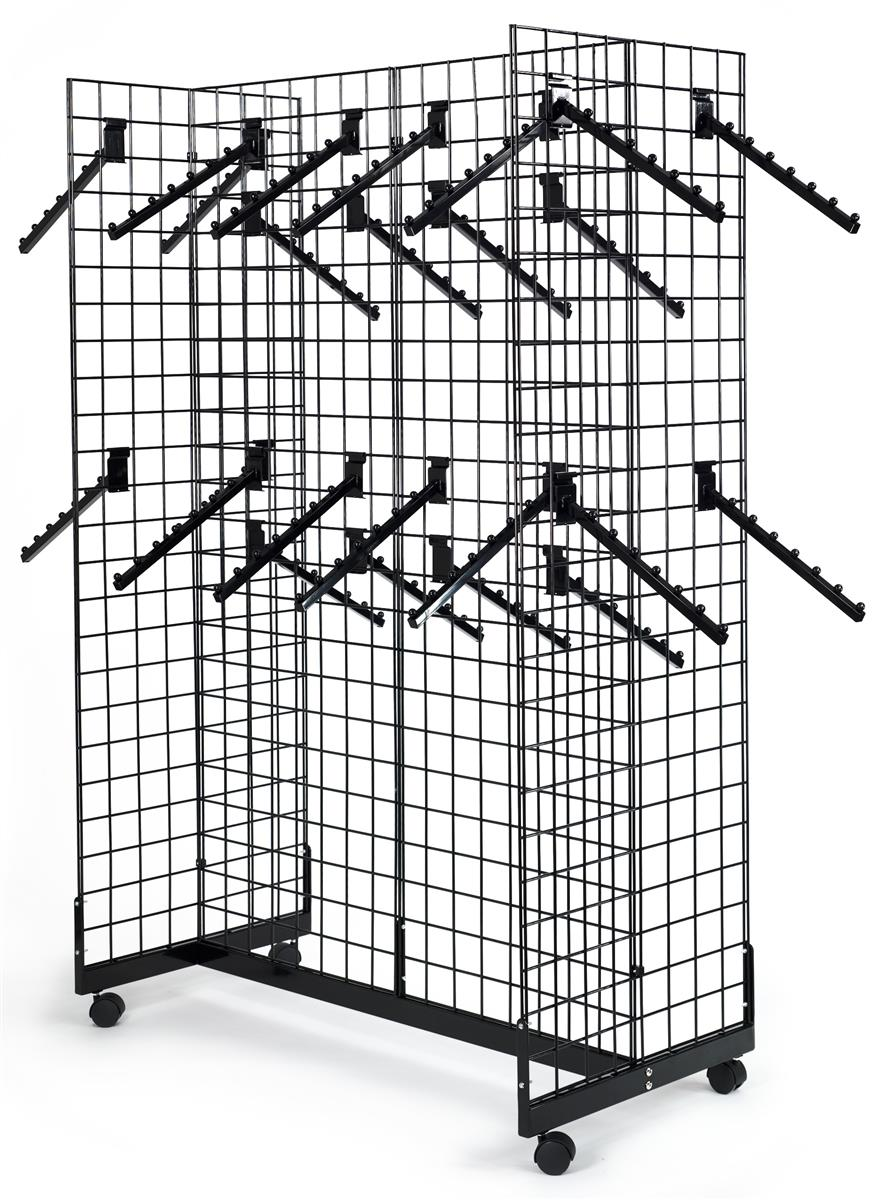 This Grid Rack Includes 25 Waterfall Hooks For Organizing