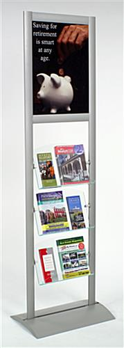 "magazine display with 18"" x 24"" poster frame"