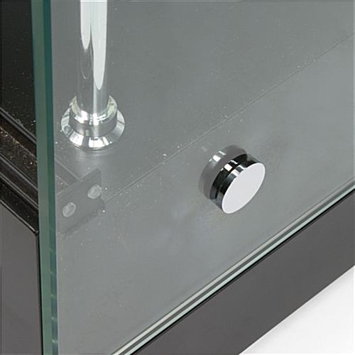 "Glass Cabinets: 36"" w Grace Tyler Commerical Showcases - Black Painted MDF"