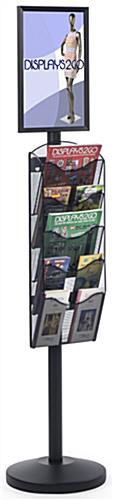 "11"" x 17"" Sign Post with 5 Mesh Literature Pockets, Floorstanding"