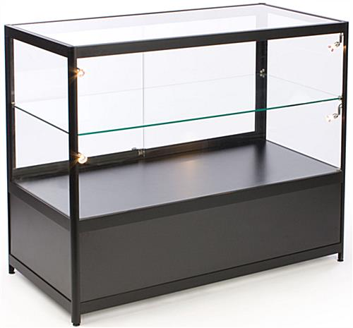Display Kitchen Cabinets For Sale: Black Merchandising Display Cases For Sale