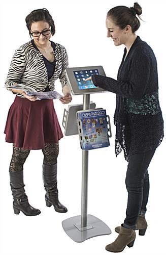 Advertising iPad Kiosk with Literature Holders