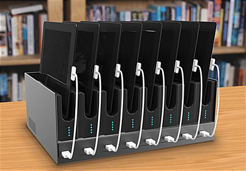 Multiple Tablet Charging Stations Made Of Steel