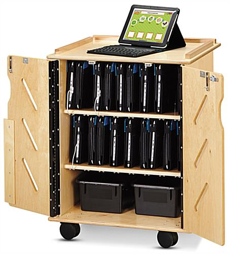 Laptop & Tablet Storage Cart Holds up to 32 Devices